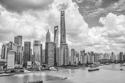 Photograph - Shanghai 2 Bw by Michael Damiani
