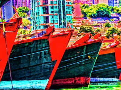 Photograph - Shanghai Boats by Rick Bragan