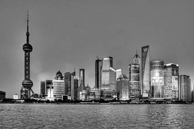 Photograph - Shanghai Bw by Michael Damiani