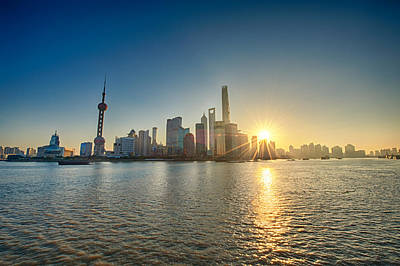 Photograph - Shanghai Pudong In The Morning Sun by U Schade