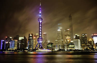 Photograph - Shanghai Skyline by Chris Cousins