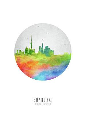 Shanghai Skyline Chsh20 Art Print