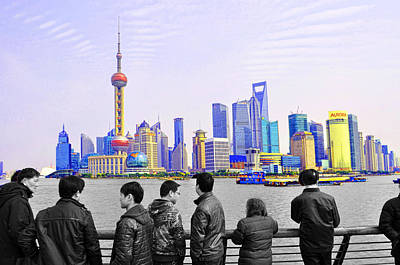 Photograph - Shanghai Skyline by Dana Sohr