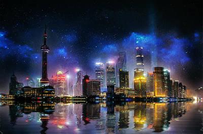 Photograph - Shanghai Skyline by Ian Mitchell