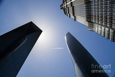 Photograph - Shanghai Towers by Angela DeFrias