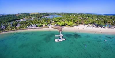 Photograph - Shangrila Fiji Aerial Panorama by Brad Scott