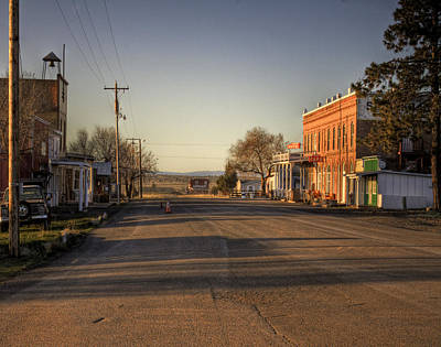 Townscape Digital Art - Shaniko Oregon  by Lee  Santa