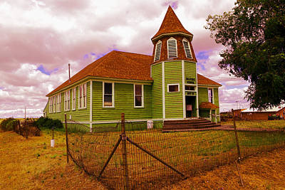 School Houses Photograph - Shaniko School District Sixty Seven by Jeff Swan