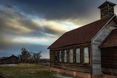 Print featuring the photograph Shaniko Schoolhouse by Cat Connor
