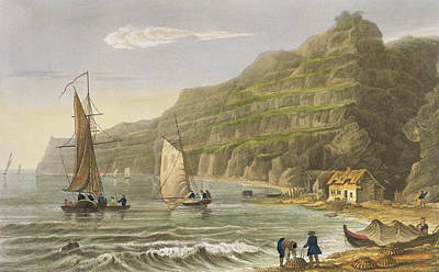 Sailboats Drawing - Shanklin Bay by Frederick Calvert