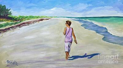 Painting - Shannon At Pink Sands by Patricia Piffath