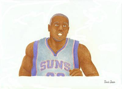 Pheonix Drawing - Shannon Brown by Toni Jaso