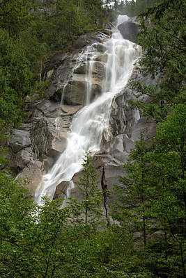 Photograph - Shannon Falls At Provincial Park In Squamish by Jit Lim