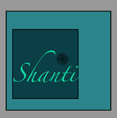 Digital Art - Shanti In Blue by Kandy Hurley