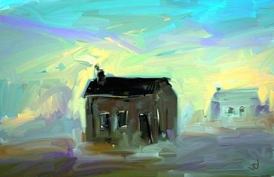 Digital Art - Shanty Town by Jim Vance