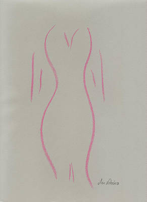 Shape Of A Woman Print by M Valeriano