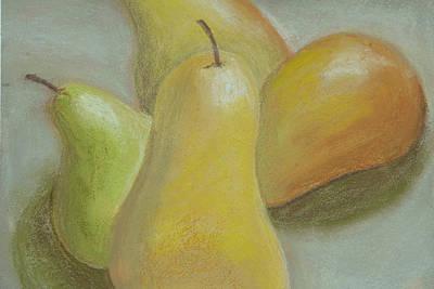 Shapely Pears Art Print