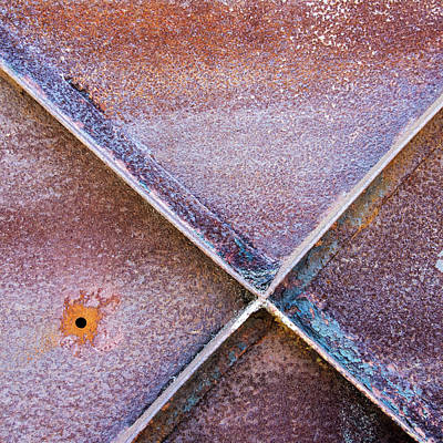 Photograph - Shapes And Textures On Bunker Door by Gary Slawsky