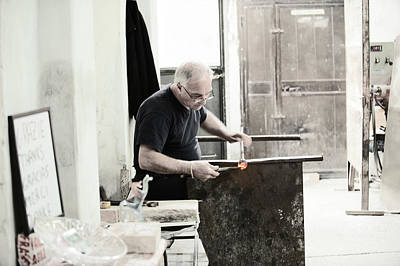 Photograph - Shaping Glass by Jean Gill