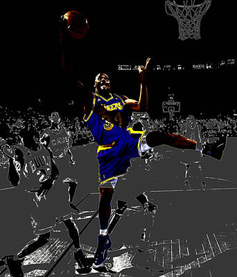 Louisiana State University Digital Art - Shaq by Brian Reaves