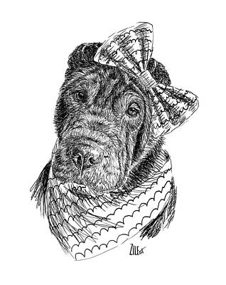 Digital Art - Shar Pei @angel_sharpei Follow by ZileArt