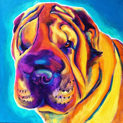 Painting - Shar Pei - Big Man by Alicia VanNoy Call