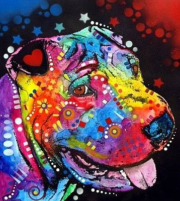 Shar Pei Painting - Shar-pei by Dean Russo