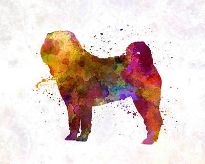 Shar Pei Painting - Shar Pei In Watercolor by Pablo Romero