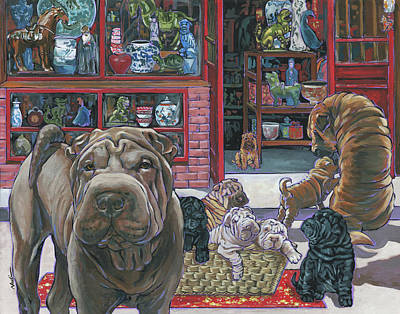 Painting - Shar Pei by Nadi Spencer