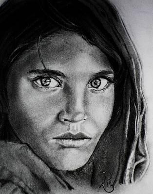 Sharbat Gula Art Print by Andrea Realpe