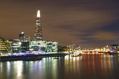 Citysape Photograph - Shard From Tower Bridge London by Andrew Ford