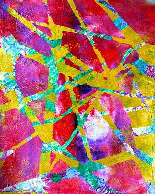 Painting - Shards Of Fuchsia by Polly Castor