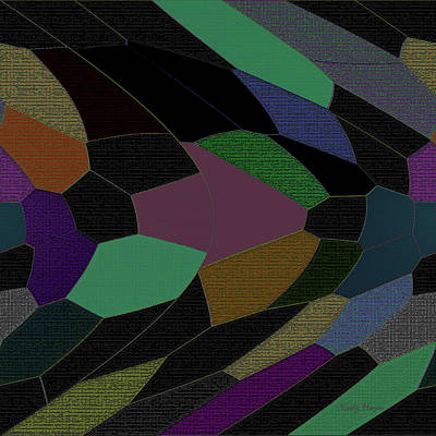 Digital Art - Shards Of Glass by Cathy Harper