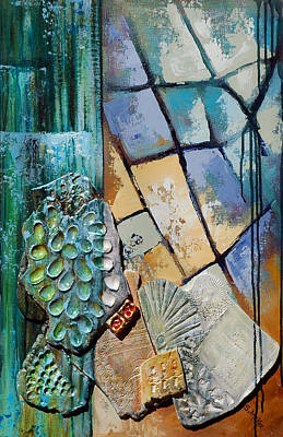 Painting - Shards Water Clay And Fire by Suzanne McKee