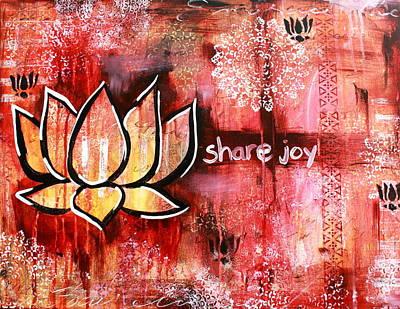 Zen Painting - Share Joy by Kayla Mallen