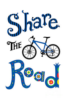 Share The Road Art Print by Andi Bird