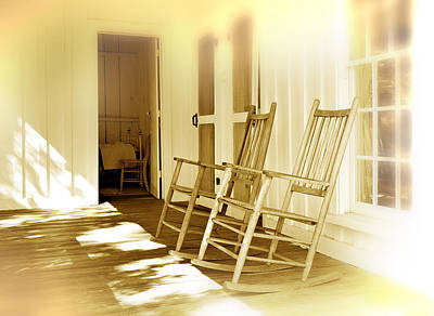 Rocking Chairs Photograph - Shared Moments by Mal Bray