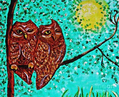 Shared Moonlight Detail Print by Sarah Loft