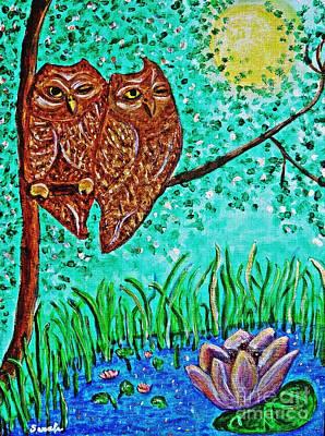 Shared Moonlight Print by Sarah Loft