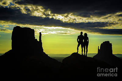 Photograph - Sharing A Monument Valley Sunrise by Priscilla Burgers