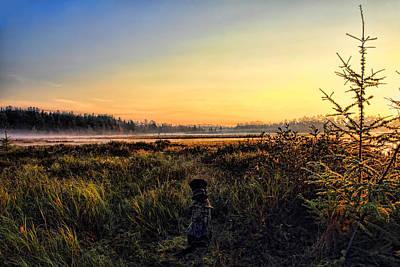 Photograph - Sharing A September Sunrise With A Retriever by Dale Kauzlaric