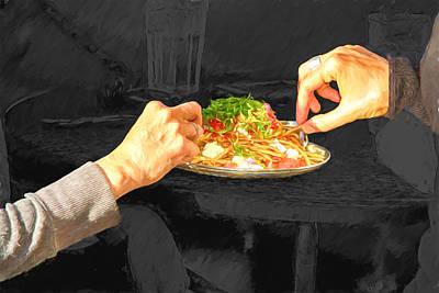 Digital Art - Sharing Dinner by John Haldane