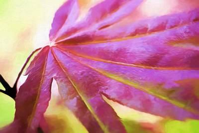 Maple Leaf Art Mixed Media - Sharing One Single Memory by Debra Lynch