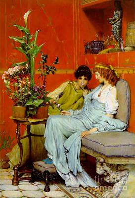 Sharing Secrets 1869 Art Print