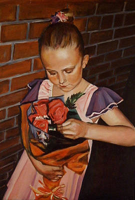Ontario Portrait Artist Painting - Sharing by Sheila Diemert