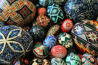 Photograph - Shari's Ukrainian Eggs by E B Schmidt