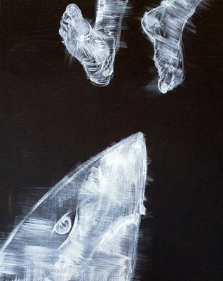 Painting - Shark And Feet by Fabrizio Cassetta