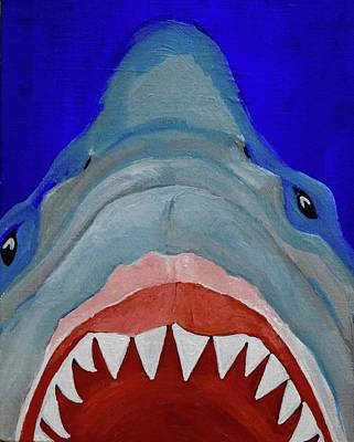 Sharks Painting - Shark by Anne Seay