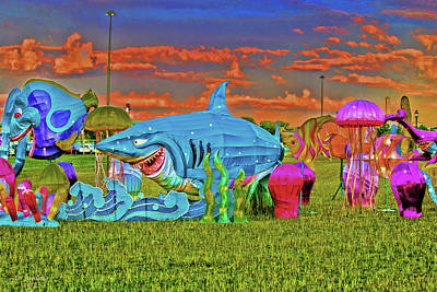 Digital Art - Shark Attack by David Stasiak