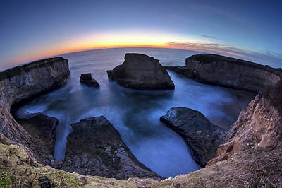 Shark Fin Cove Art Print